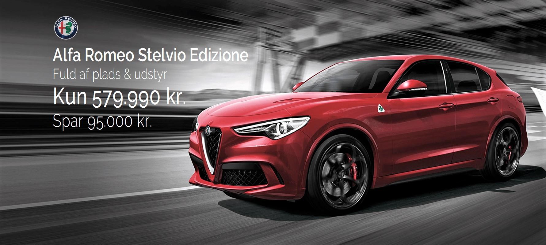 Ny Alfa Romeo Stelvio hos FJ Biler