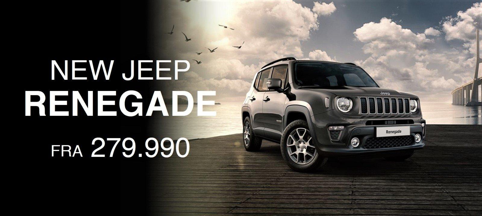 Ny Jeep Renegade hos FJ Biler